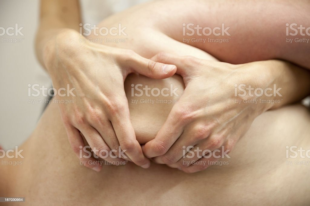 Physical Therapist Series: the shoulder royalty-free stock photo