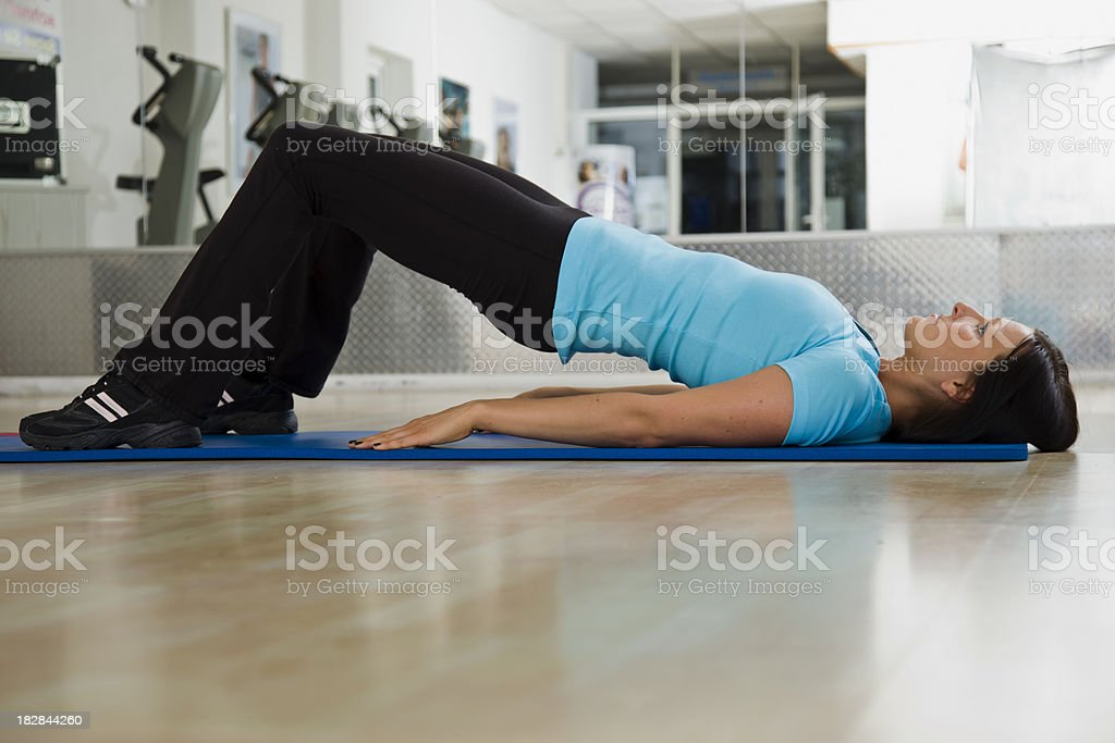 Physical Therapy Exercise for Lower Back royalty-free stock photo