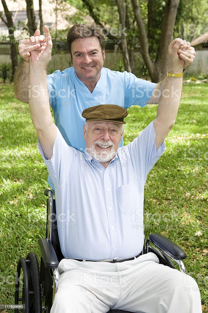 Physical Therapy is Fun royalty-free stock photo