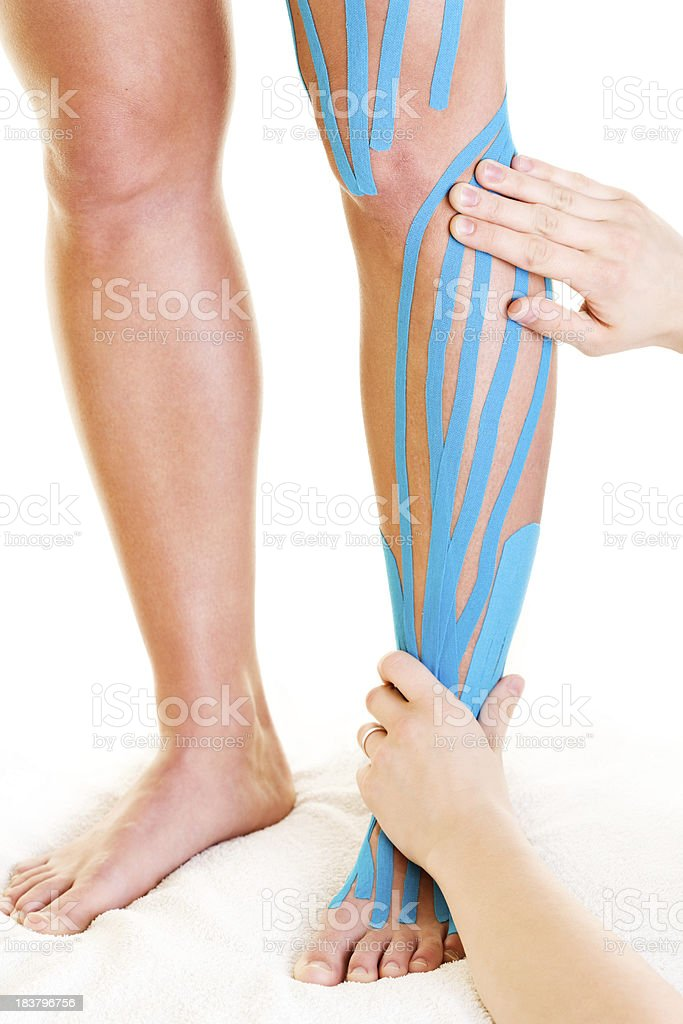 physical therapy legs stock photo