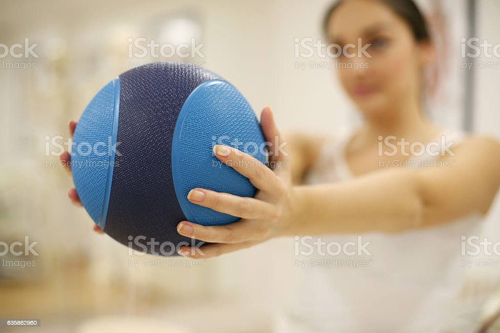 Physical therapy. stock photo