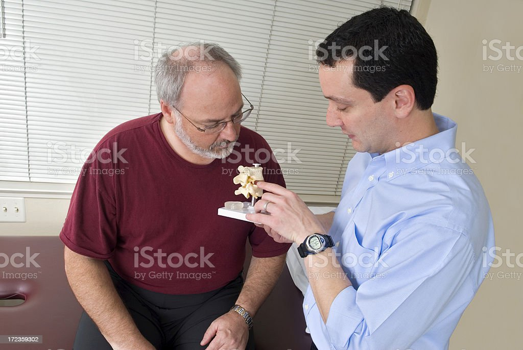 Physical Therapy - Spine Model royalty-free stock photo