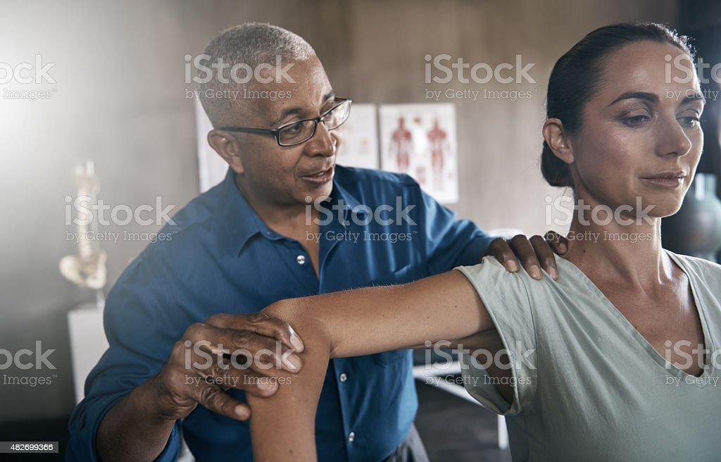 Physical therapy to improve the way you move stock photo