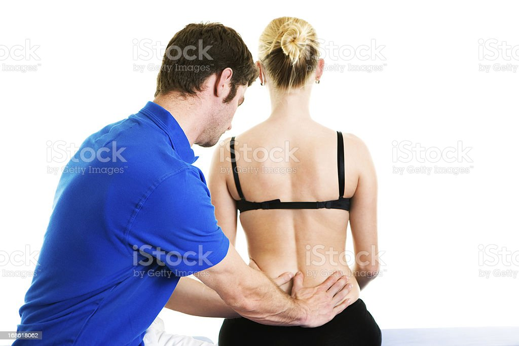physical therapy young woman royalty-free stock photo