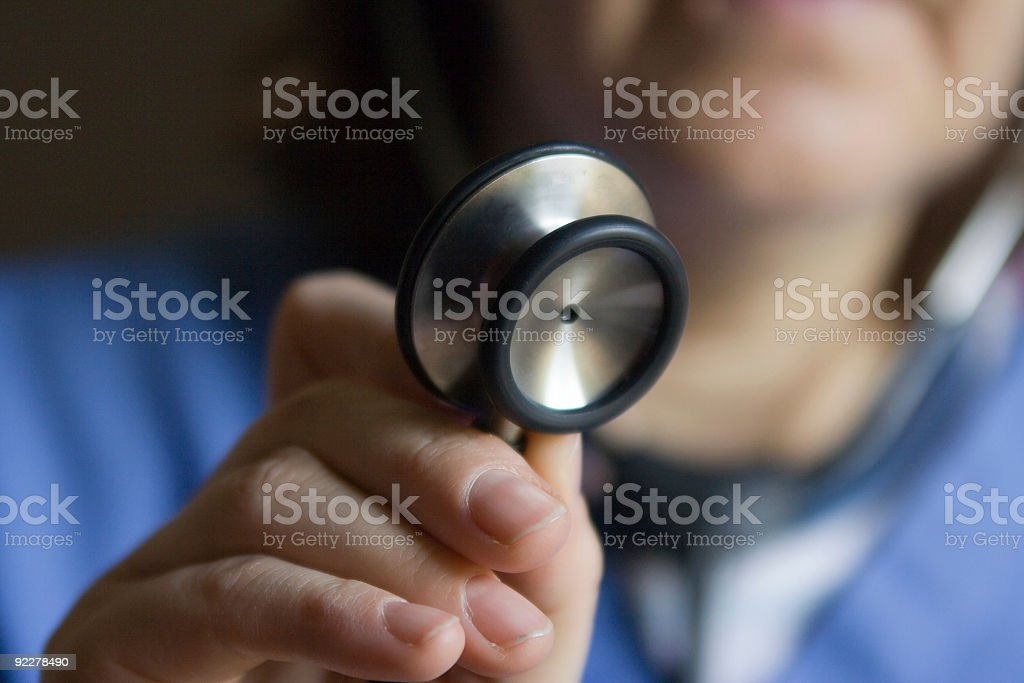 Physician's stethoscope royalty-free stock photo