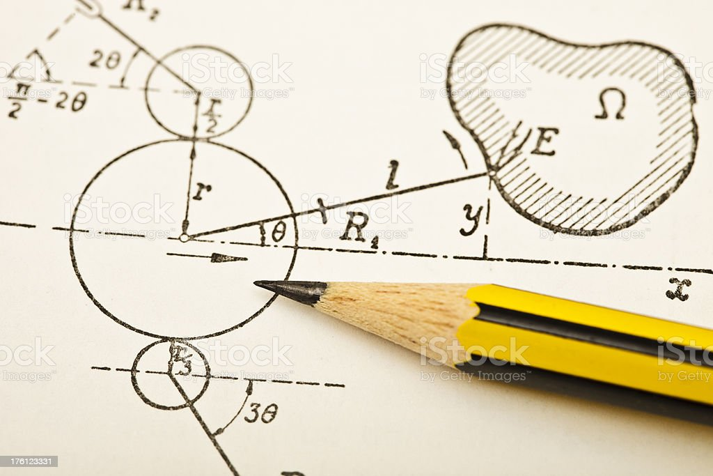Physics and mathematics royalty-free stock photo