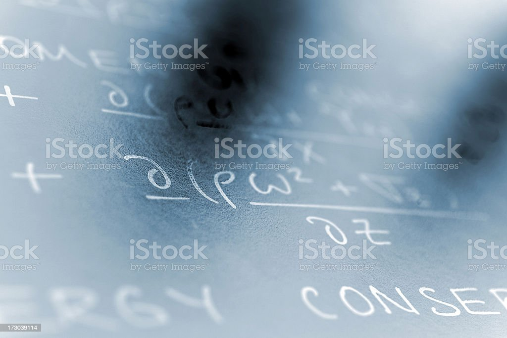Physics Equation royalty-free stock photo