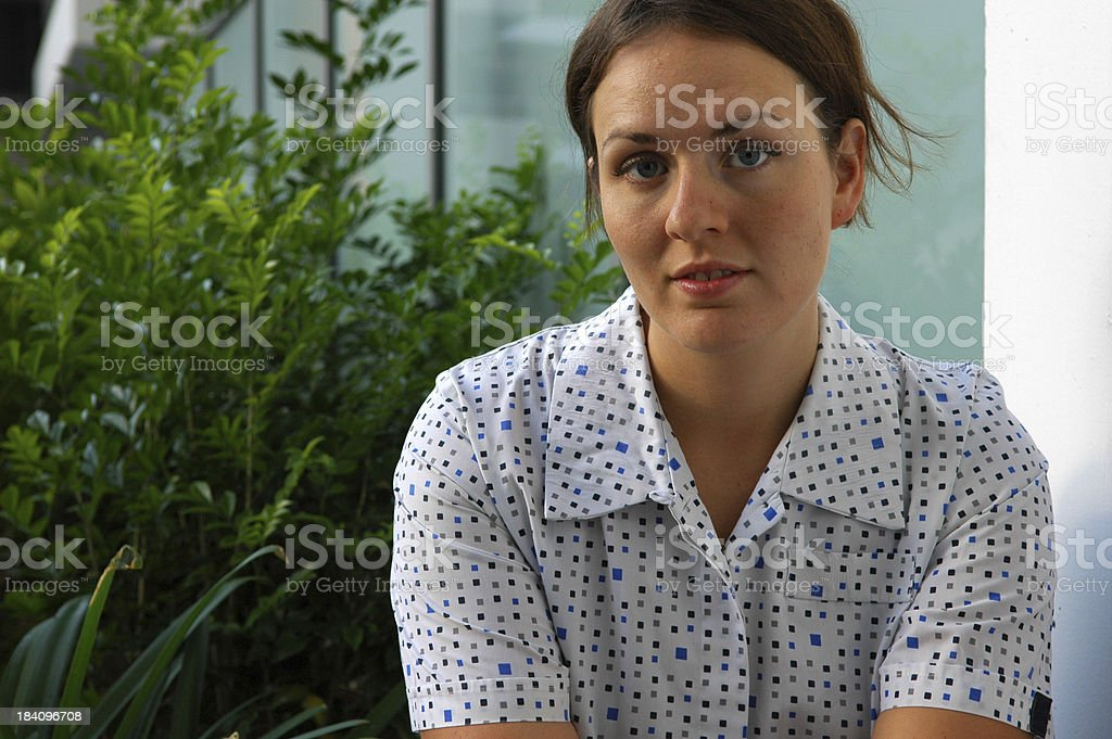Physio Therapist on break royalty-free stock photo