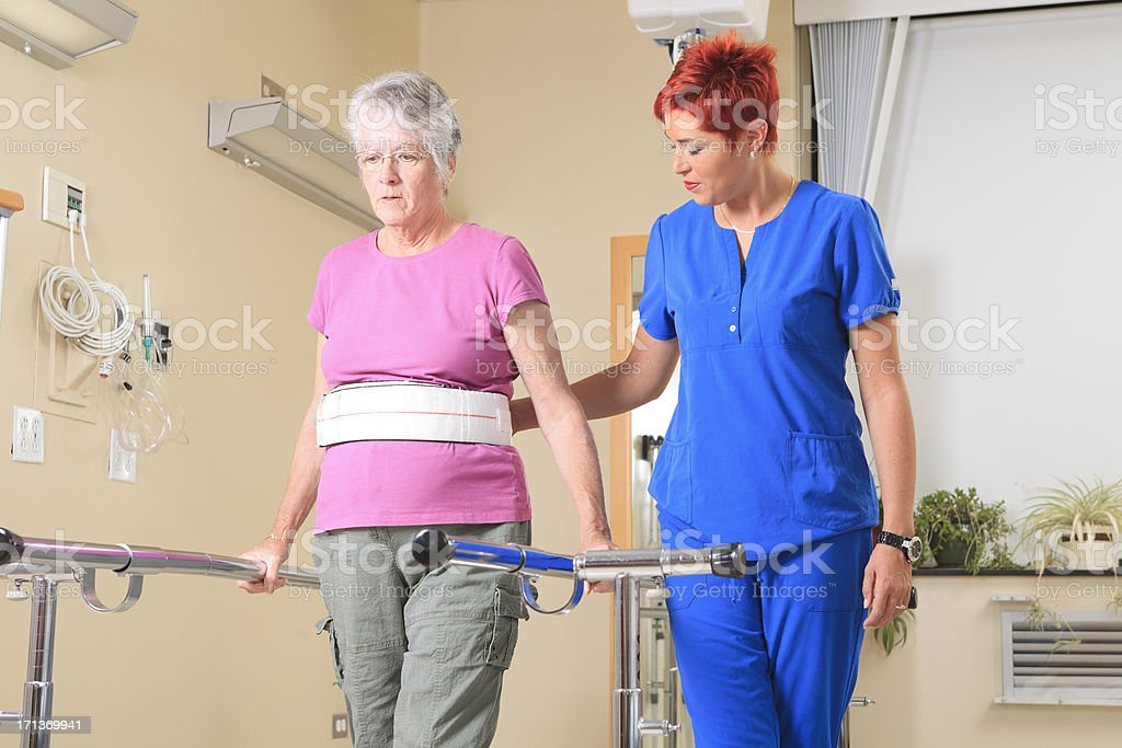 Physiotherapy - Employee Help Woman stock photo