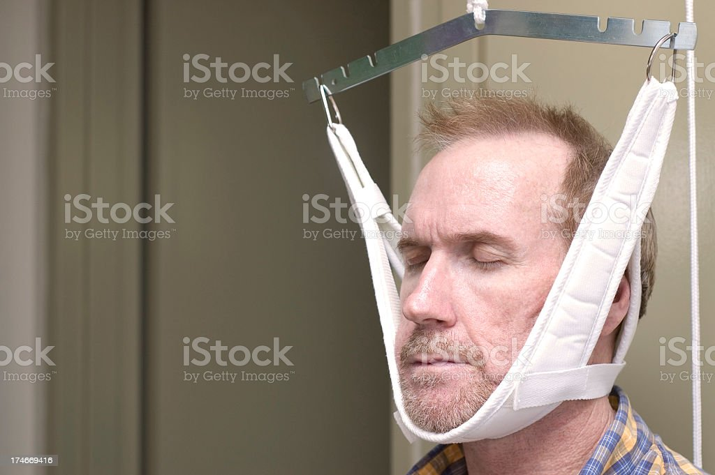 Physiotherapy for the neck stock photo