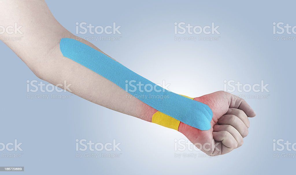 Physiotherapy for wrist pain, aches and tension royalty-free stock photo