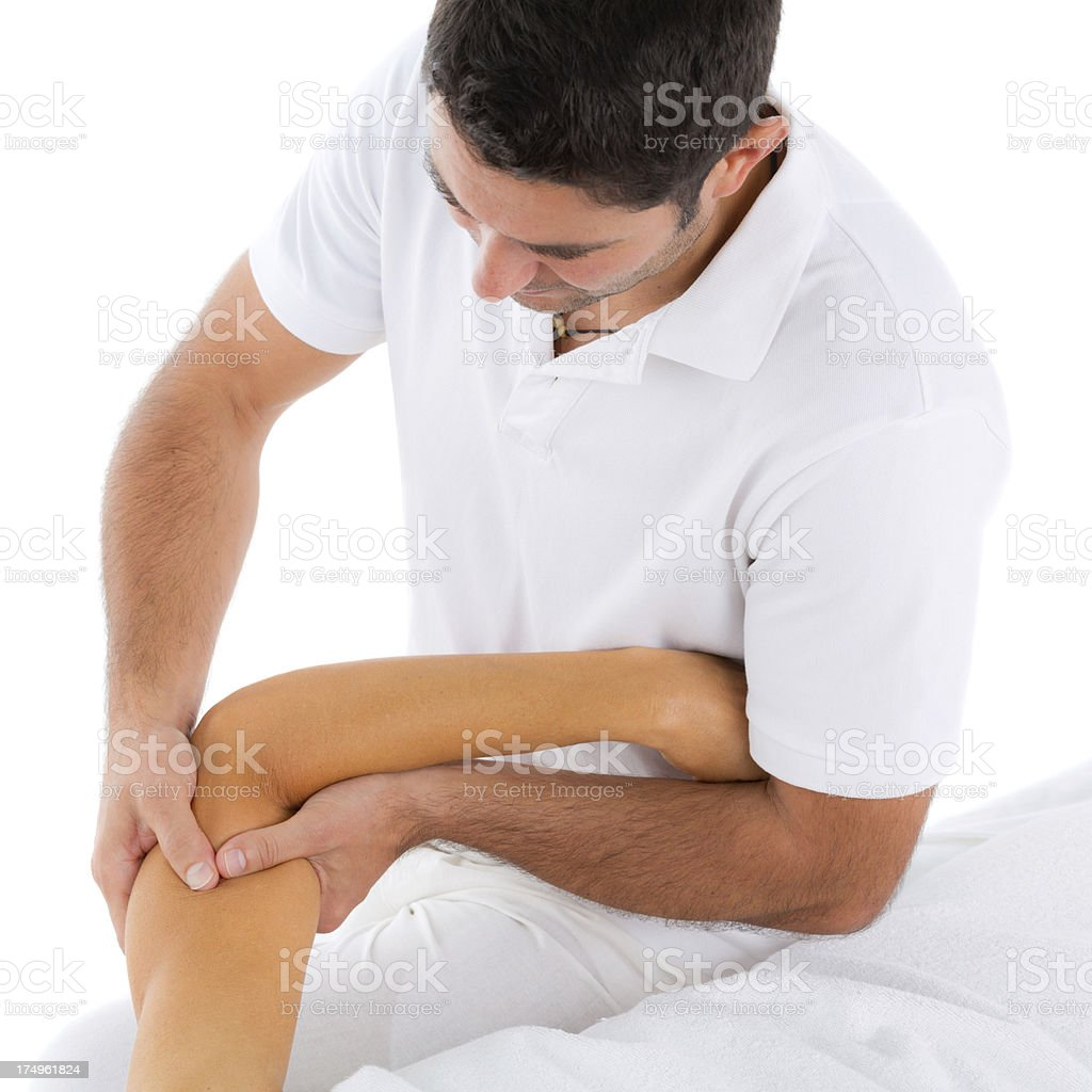 physiotherapy of female arm stock photo