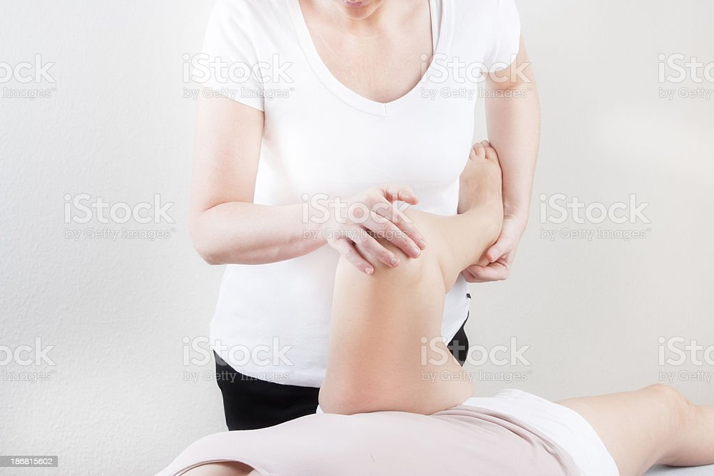 Physiotherapy of hip royalty-free stock photo
