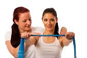 Physiotherapy - therapist doing arm strenghteninh excercises