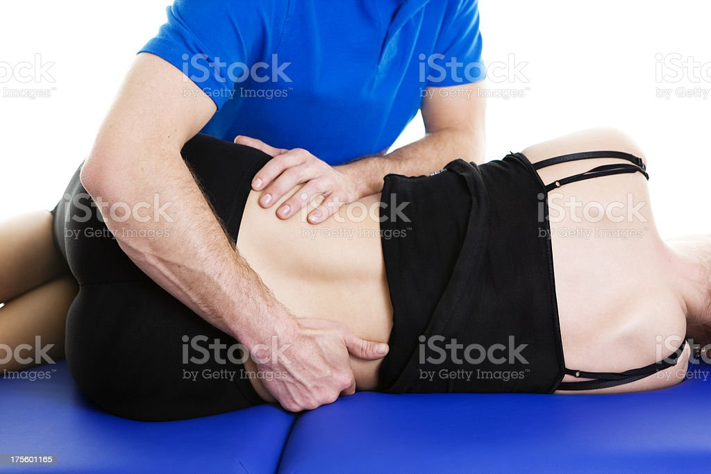 physiotherapy young woman stock photo