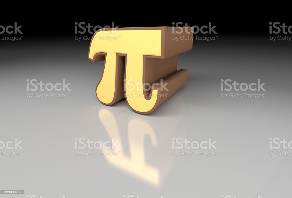 Pi number (3,14) stock photo