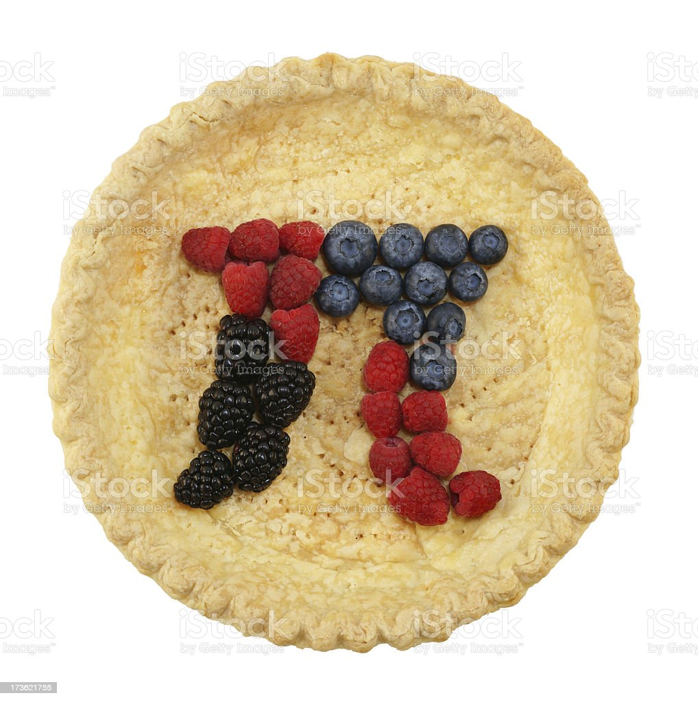Pi Pie royalty-free stock photo
