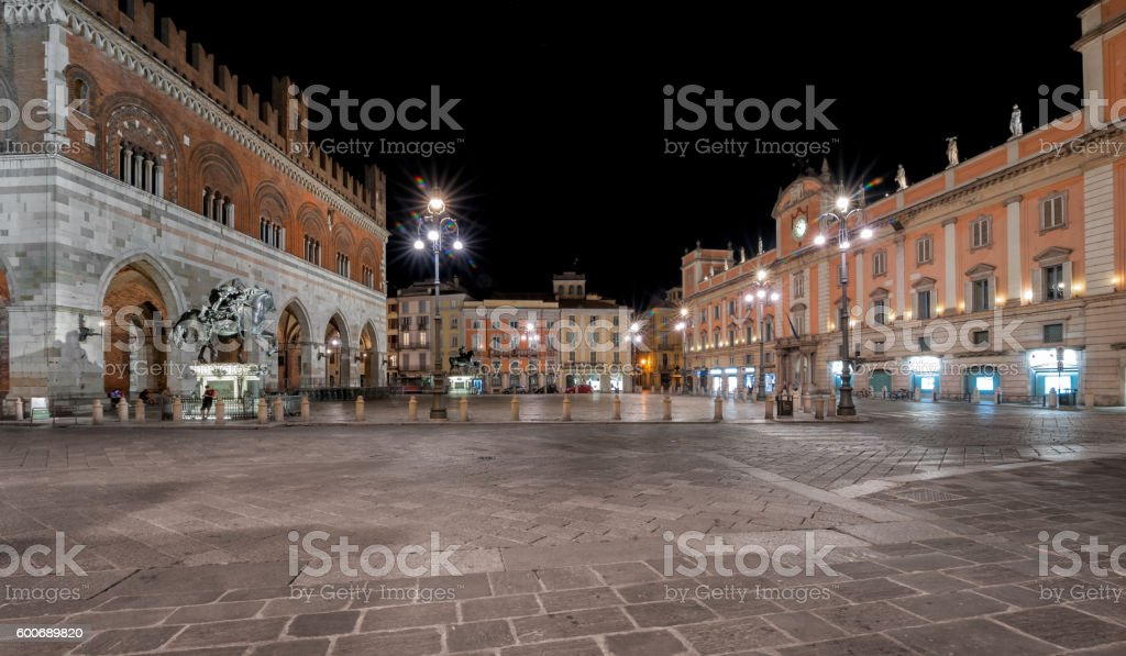 Piacenza, the main square stock photo