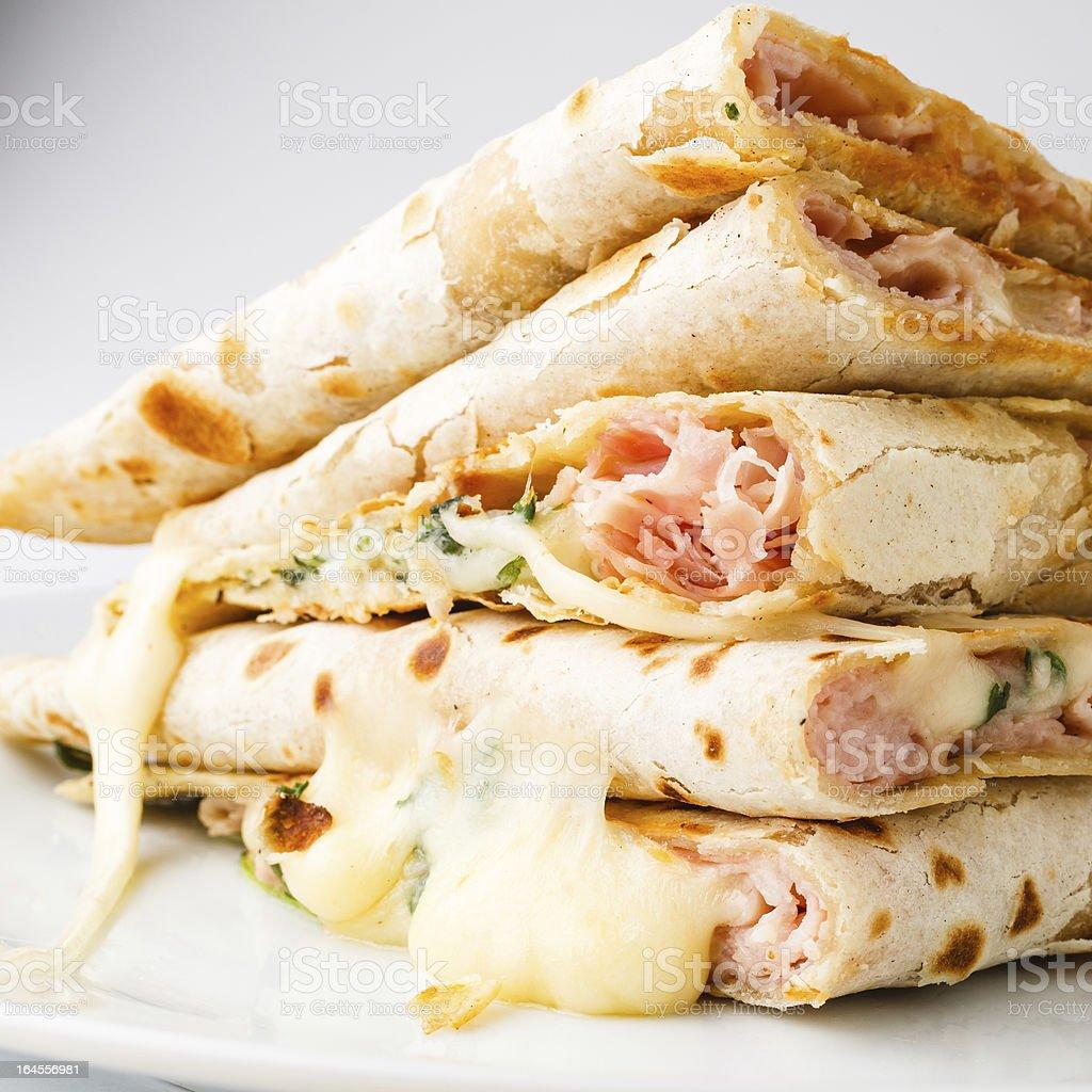 Piadina sandwich royalty-free stock photo