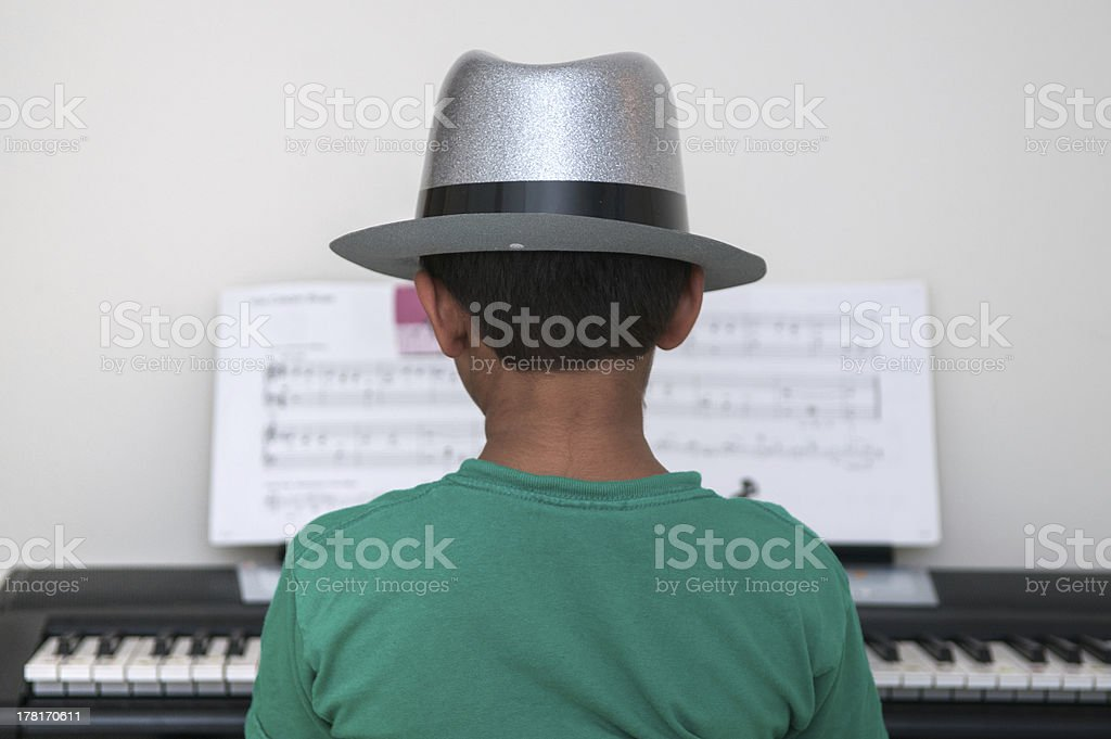 Pianist royalty-free stock photo