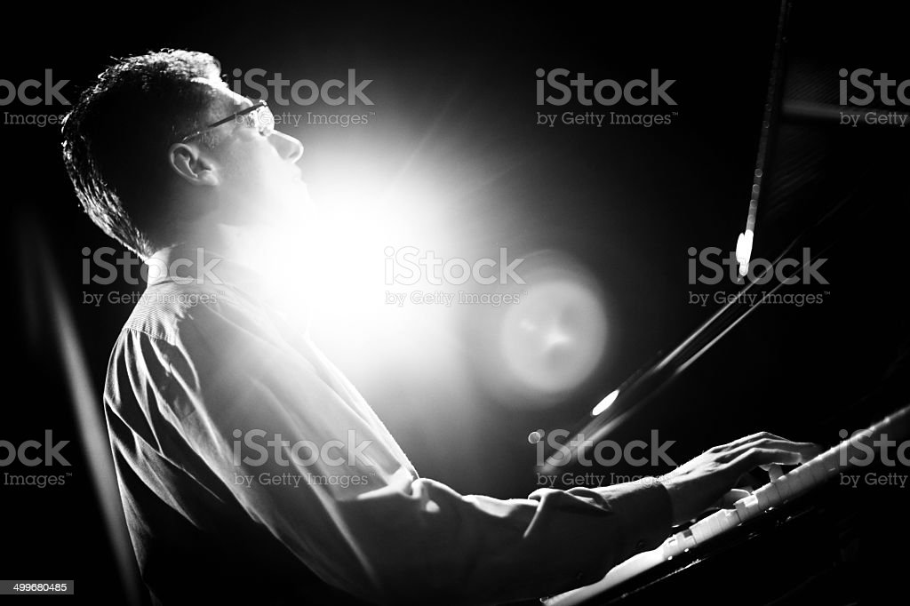 Pianist. royalty-free stock photo