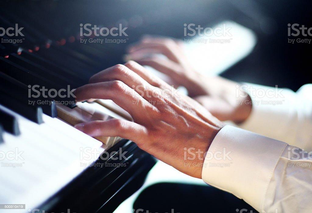 Pianist. stock photo