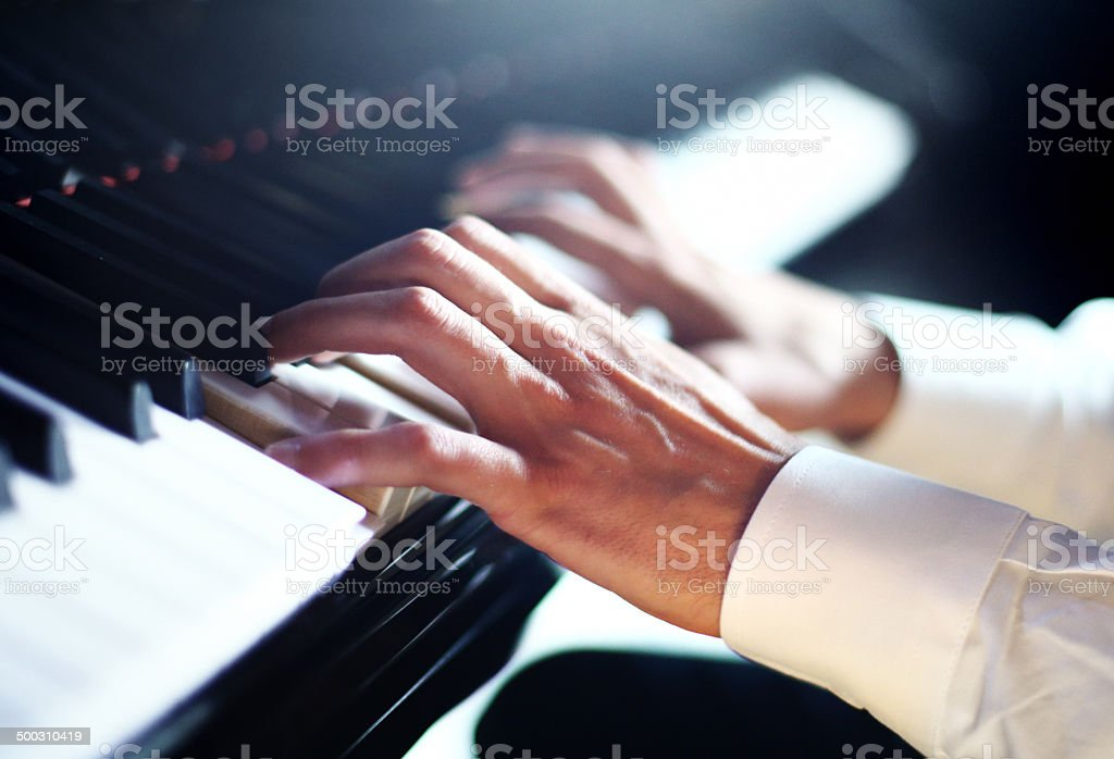 Pianist. stock photo