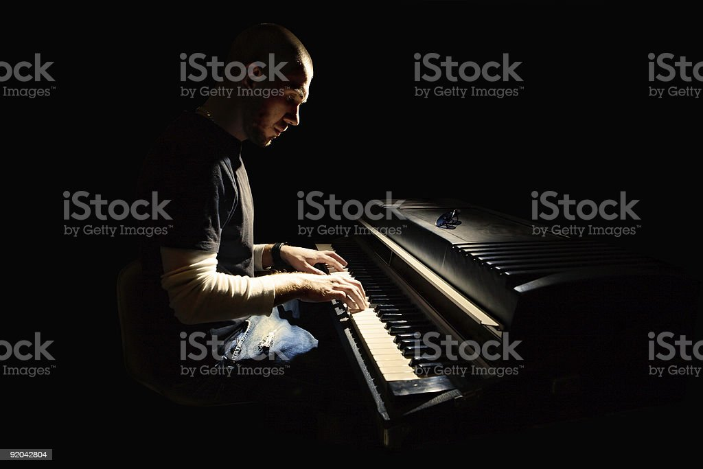Pianist stock photo