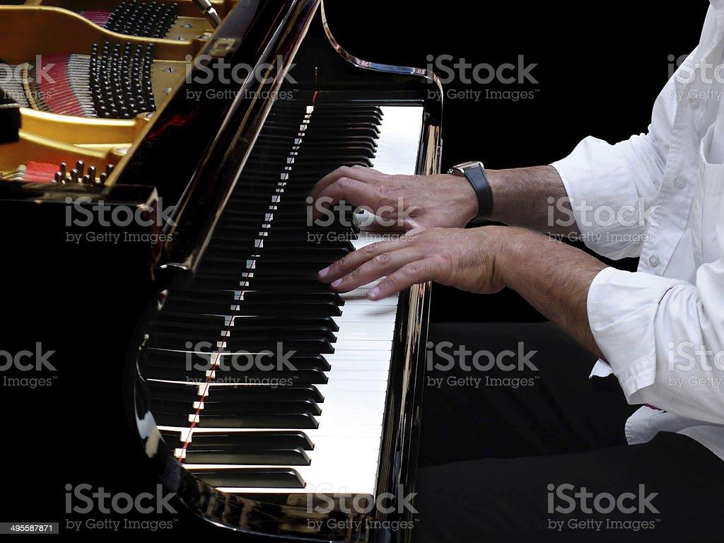 Pianist Plays Jazz Music stock photo