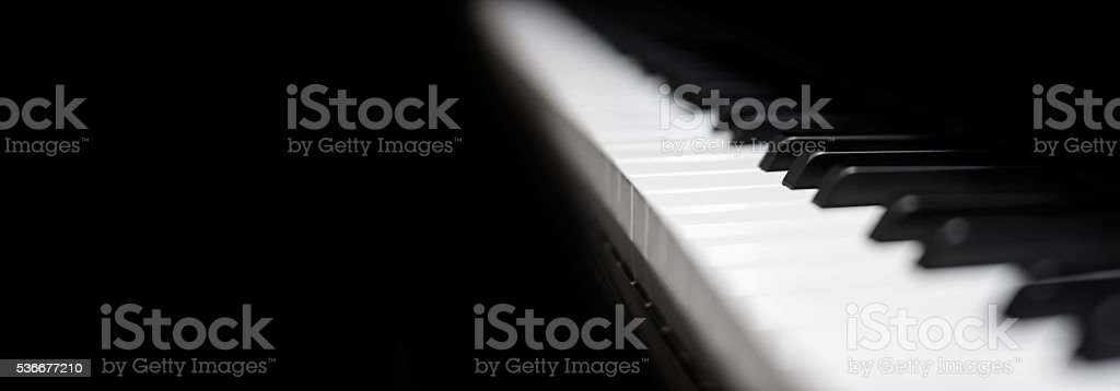 Piano and piano keyboard stock photo