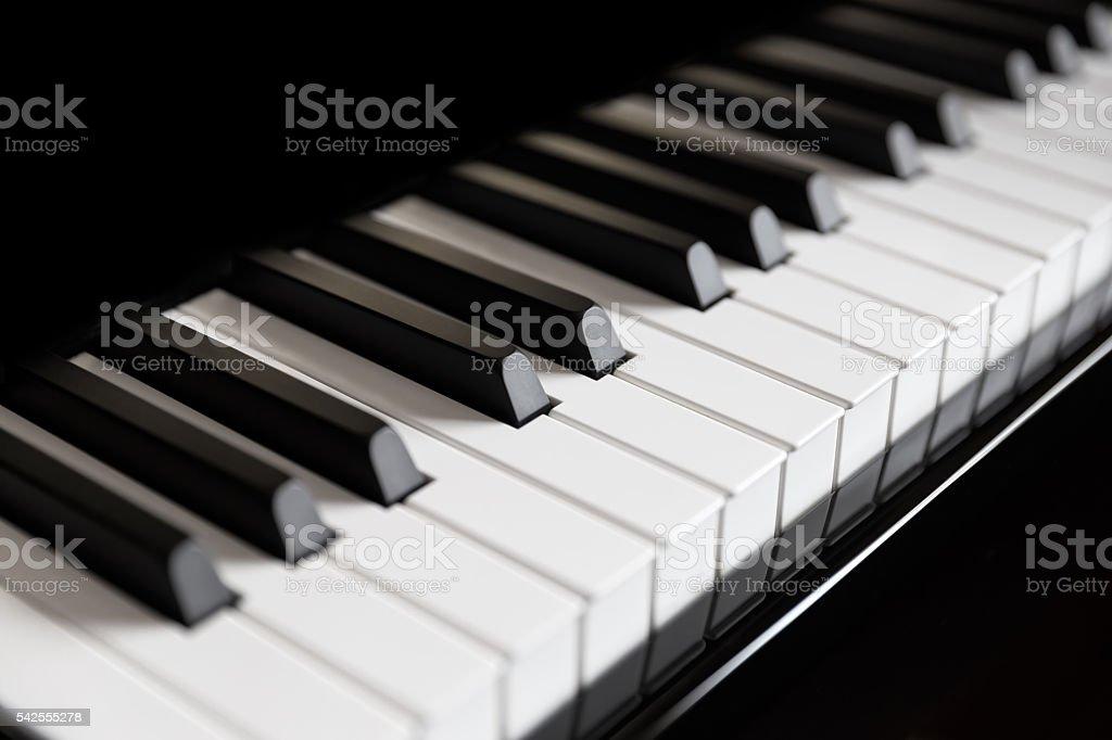 Piano and piano keyboard stock photo