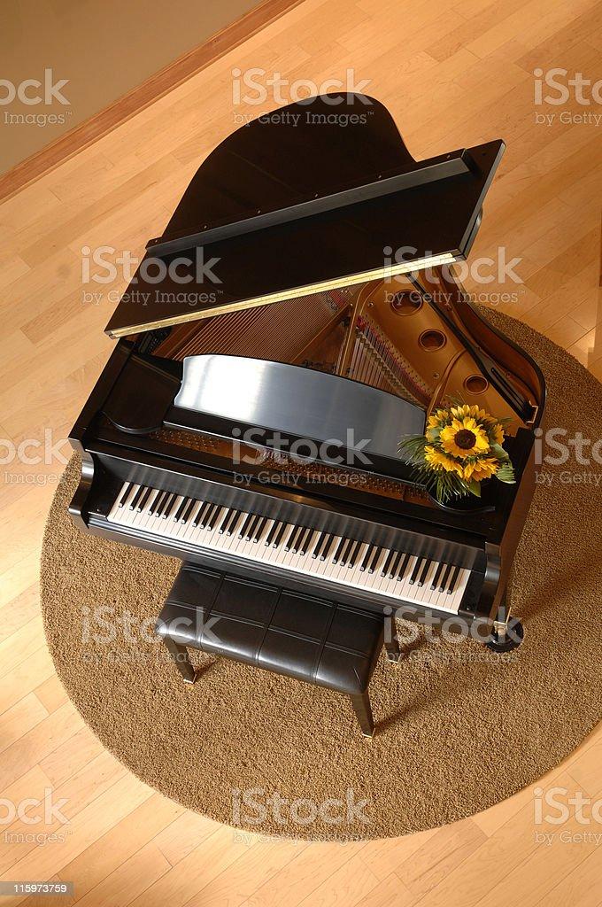 piano at home stock photo