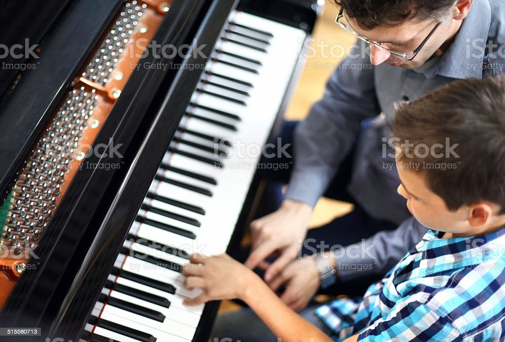 Piano class. stock photo