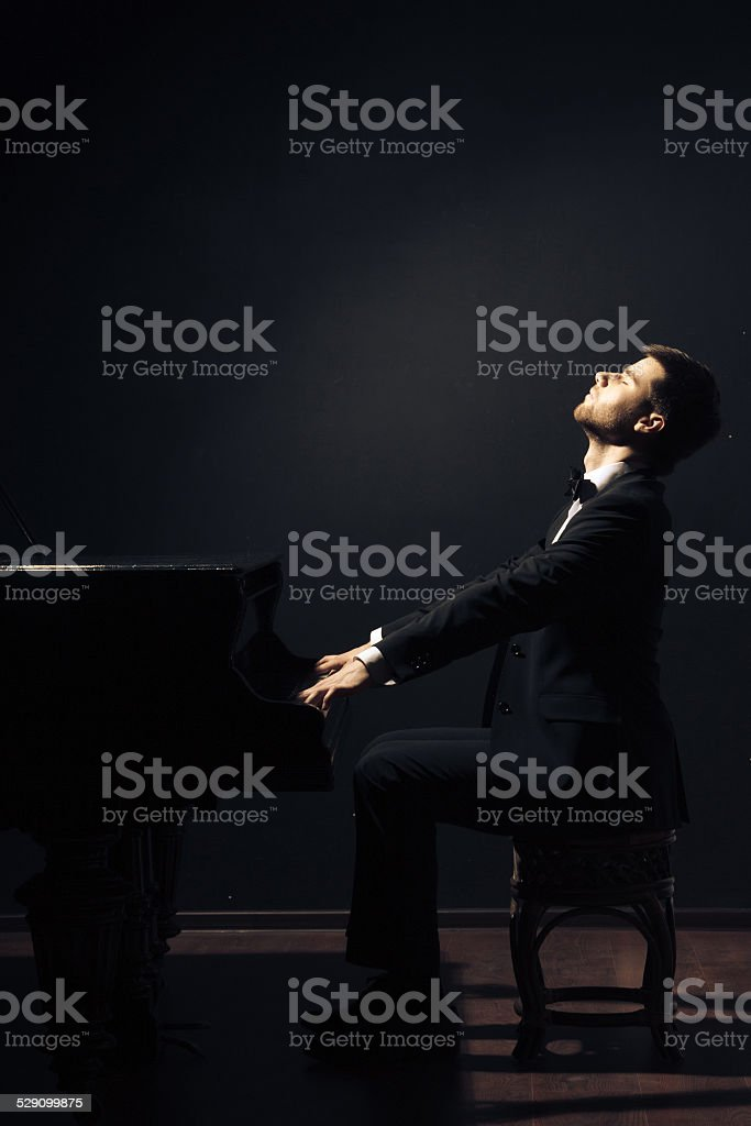 Piano classical music musician player stock photo
