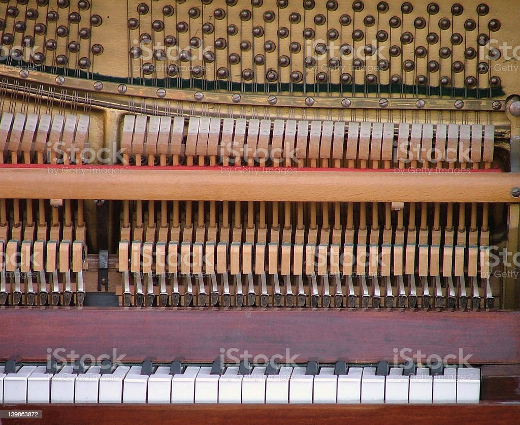 piano detail stock photo