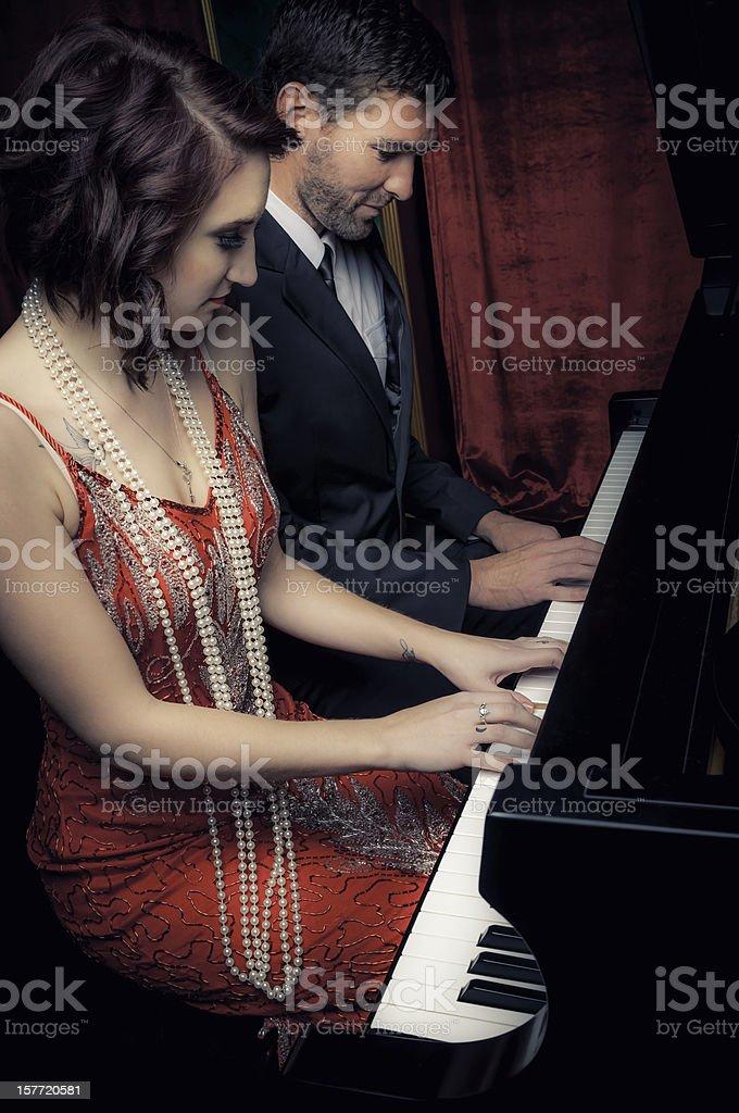 Piano duet - I royalty-free stock photo