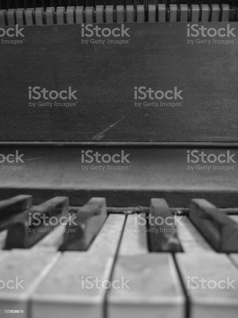 Piano - E royalty-free stock photo