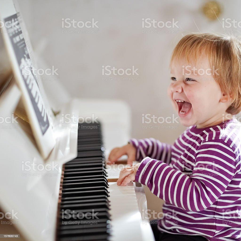 Piano Girl stock photo