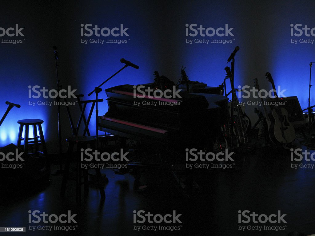 Piano Guitar Stage Music royalty-free stock photo