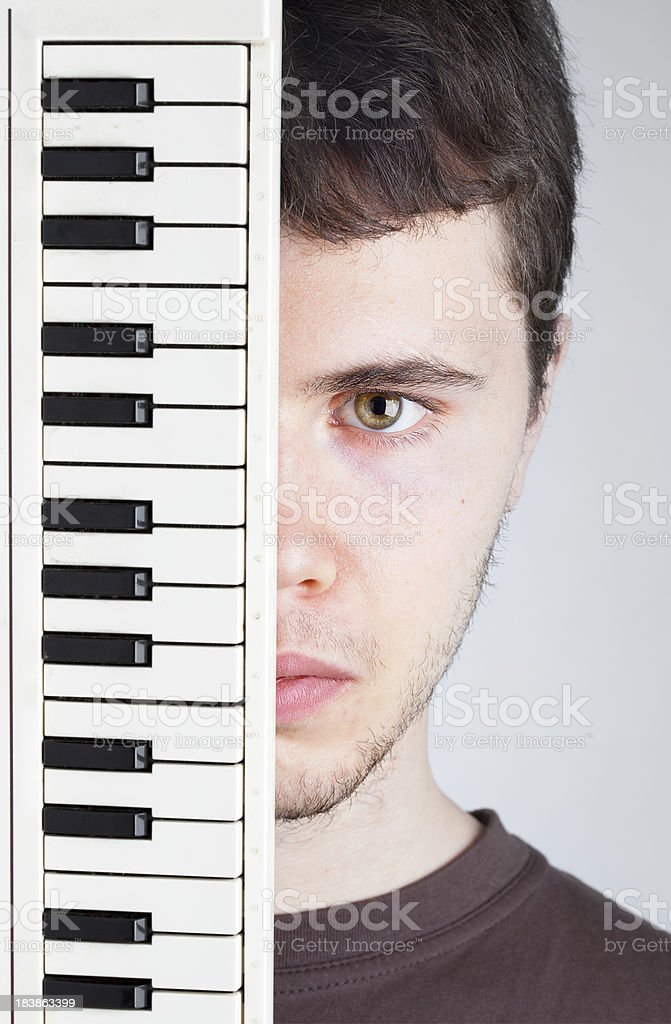 Piano Guy royalty-free stock photo