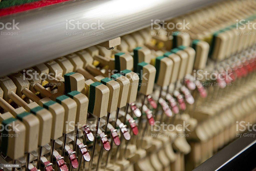 Piano Hammers at Work royalty-free stock photo