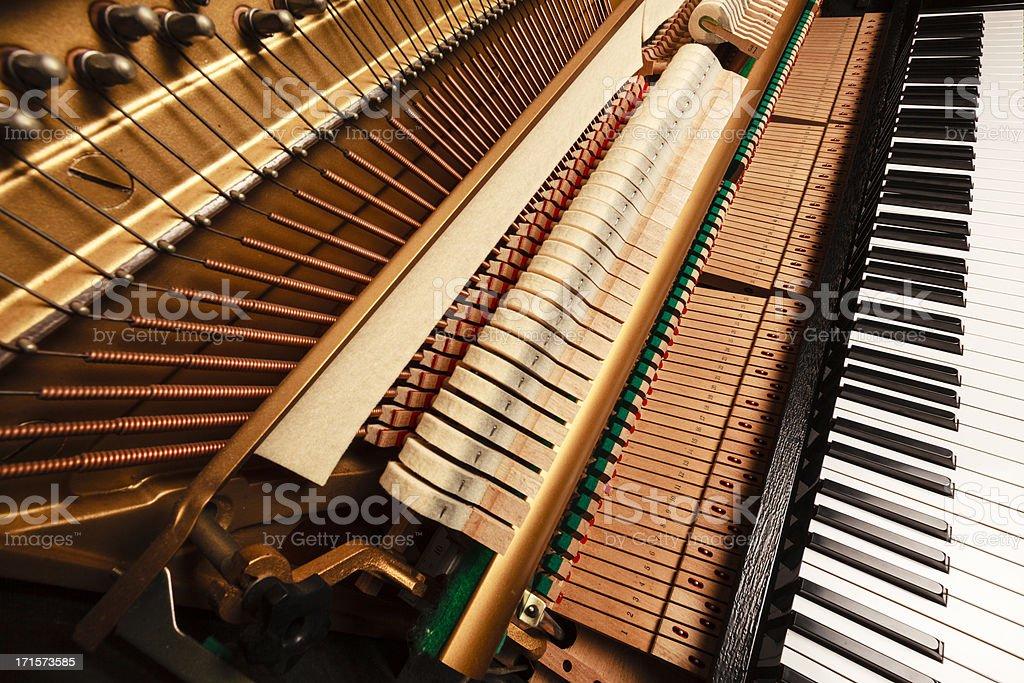 piano hammers royalty-free stock photo