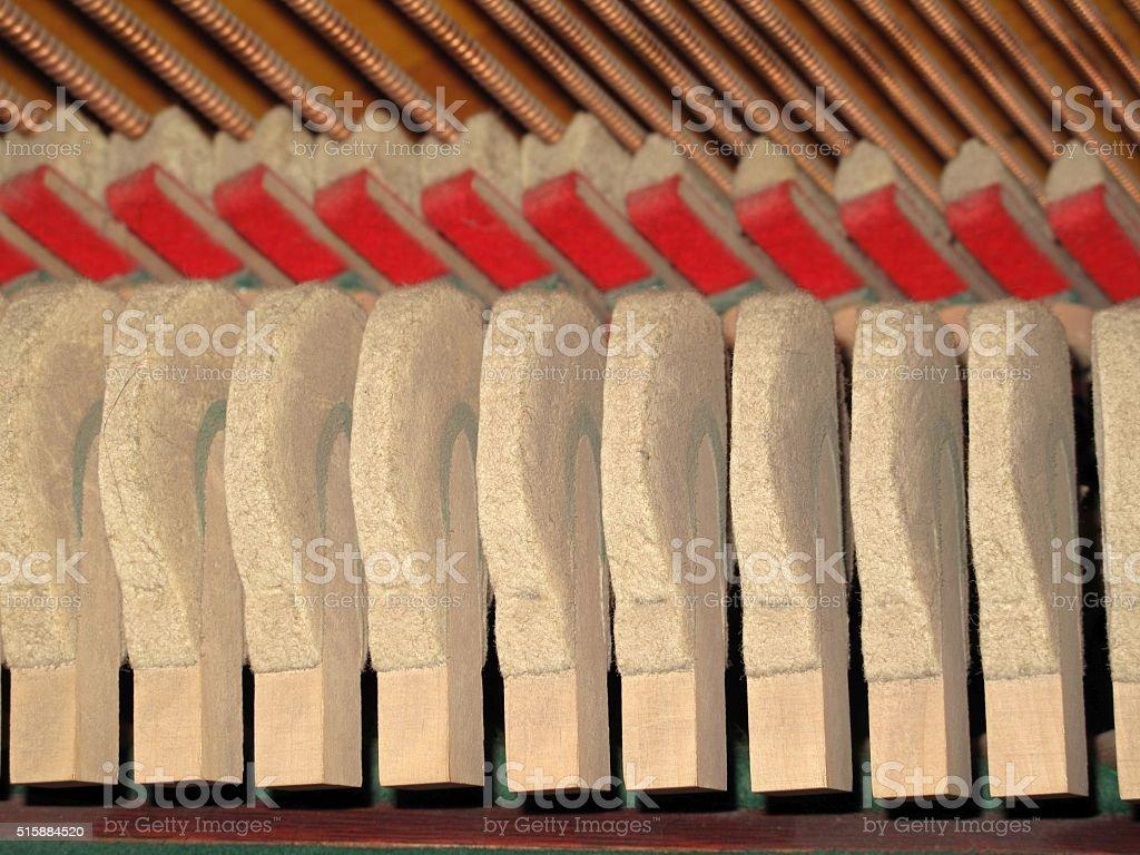 Piano Hammers stock photo
