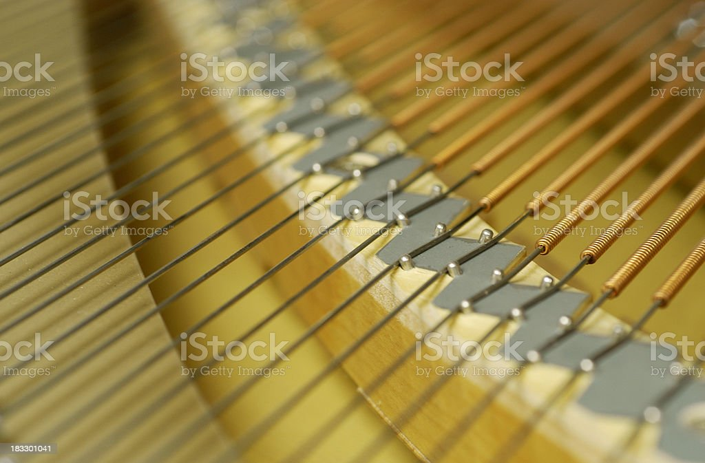 Piano harp stock photo