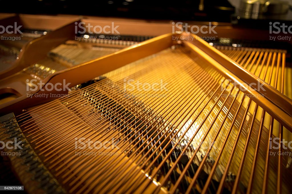 Piano interior horizontal view stock photo