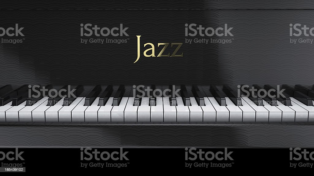 piano jazz stock photo