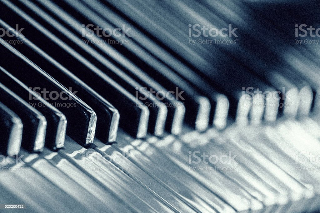 Piano key close-up stock photo