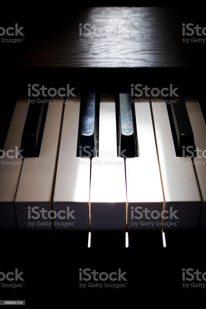 Piano key. stock photo