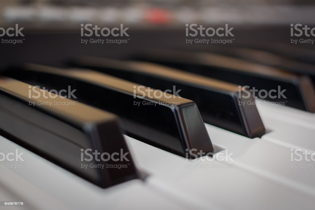 piano keyboard keys stock photo
