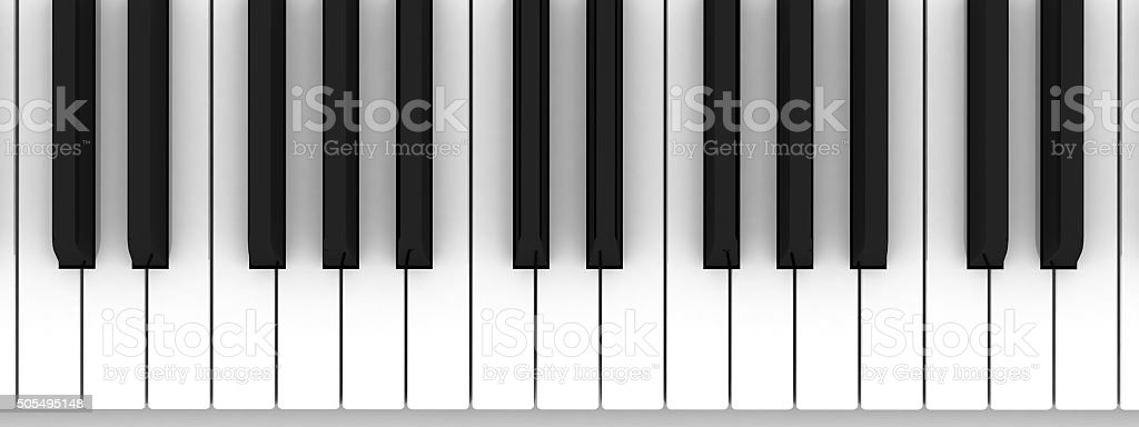 Piano keyboard. Learning piano and game concept stock photo